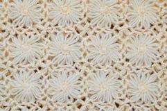 Текстура и предпосылка шерстей шнурка цветка вязать Стоковое Изображение RF
