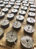 Текстура и предпосылка шишек цемента для размечать и выравнивать работу бетонной конструкции стоковые фотографии rf