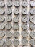 Текстура и предпосылка шишек цемента для размечать и выравнивать работу бетонной конструкции стоковые изображения rf