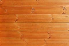 Текстура и предпосылка горизонтальных деревянных доск естественного цвета Стоковая Фотография