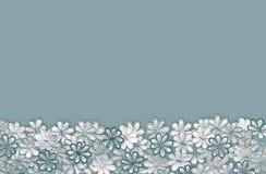 Текстура и предпосылка картины цветков бирюзы вышивки на a Стоковая Фотография