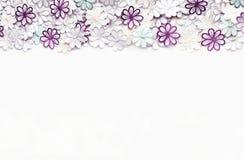Текстура и предпосылка картины цветков вышивки красочные на a Стоковая Фотография RF