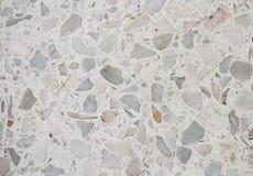 Текстура каменной стены, предпосылка пола Terrazzo Стоковые Фото