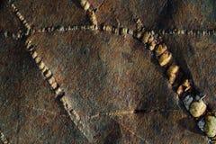 Текстура камня моря с ржавчиной Стоковая Фотография