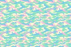 Текстура камуфлирования, пастельные цвета вектор Стоковые Изображения