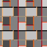 Текстура картины абстрактных современных квадратов безшовная на ретро backgr Стоковые Изображения