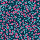 Текстура картины вектора плотная флористическая безшовная бесплатная иллюстрация