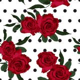 Текстура картины красной розы флористическая безшовная иллюстрация штока