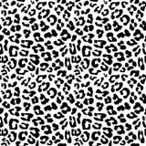 Текстура картины леопарда повторенная кожей безшовная Стоковые Фото