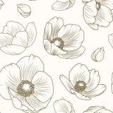Текстура картины мака морозника флористическая коричневая бежевая иллюстрация штока