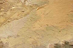 Текстура картины маслом близкая поднимающая вверх с ходами щетки Стоковое Фото