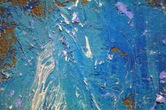 Текстура картины маслом близкая поднимающая вверх с ходами щетки Стоковые Изображения RF