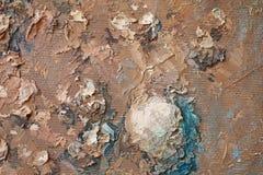 Текстура картины маслом близкая поднимающая вверх с ходами щетки Стоковое Изображение