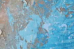 Текстура картины маслом близкая поднимающая вверх с ходами щетки Стоковая Фотография RF