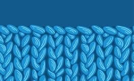 Текстура картины ткани sewater Knit горизонтальная безшовная Стоковые Изображения