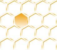 текстура картины шестиугольника померанцовая Стоковые Изображения RF