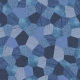 текстура картины джинсовой ткани коллажа безшовная Стоковые Изображения