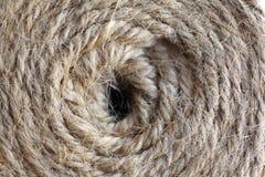 Текстура катушки веревочки Стоковое фото RF