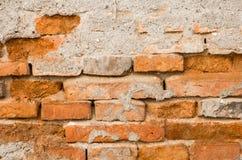 Текстура кирпича Grunge старая поврежденная Стоковое Изображение