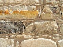 Текстура кирпичной стены, бежевый цвет Стоковое Изображение