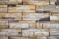 Текстура кирпичной стены в современном цвете коричневого цвета стиля, экстерьере кофейни Стоковое Изображение