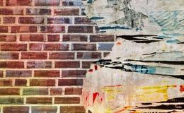Текстура кирпичной стены, городская картина как предпосылка Стоковая Фотография