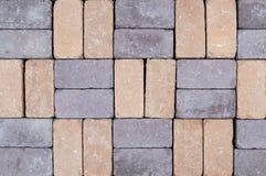 Текстура кирпичной стены других цветов для конструкции Смотреть на строительный материал стоковое фото rf