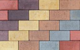 Текстура кирпичной стены других цветов для конструкции Смотреть на строительный материал стоковые изображения