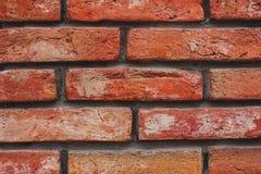 Текстура кирпичной стены конца-вверх красная стоковые фотографии rf