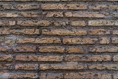 Текстура кирпичной стены старого старого grunge красная как предпосылка Стоковые Фотографии RF