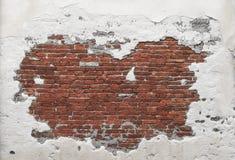 Текстура кирпичной стены Grunge Стоковые Фото