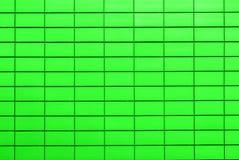 Текстура кисловочных зеленых плиток в форме кирпича Стоковые Фотографии RF