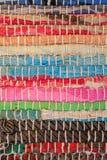 текстура ковра цветастая Предпосылка андалузского ковра Jarapa Стоковая Фотография RF