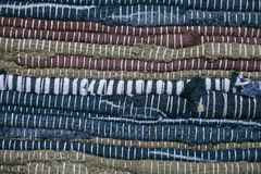 текстура ковра цветастая Предпосылка андалузского ковра Jarapa Стоковые Изображения RF