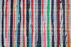 Текстура ковра striped годом сбора винограда сплетенного Стоковое Фото