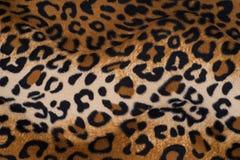Текстура кожи леопарда для предпосылки Стоковые Фотографии RF