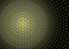 Текстура конспекта радиальная желтая геометрическая флористическая в темной предпосылке стоковое изображение
