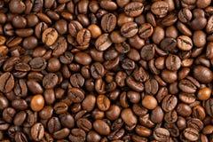 Текстура конца-вверх кофейных зерен Стоковые Изображения RF