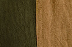 Текстура коричневой и зеленой естественной ткани краски Селективный фокус Стоковые Изображения