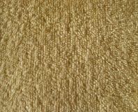 Текстура коричневой ткани ткани Terry Стоковые Изображения