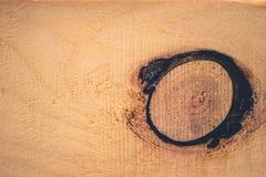 Текстура коричневых древесины и узла древесины Стоковое фото RF