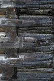 Текстура, который сгорели деревянной стены Стоковое Фото