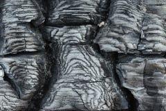Текстура, который сгорели древесины Стоковое Изображение