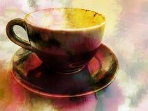 Текстура кофейной чашки стоковые изображения rf
