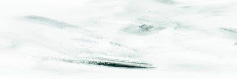 Текстура краски абстрактного масла черно-белая на холсте, черно-белой предпосылке краски Стоковая Фотография