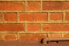 Текстура красного кирпича Стоковое Фото