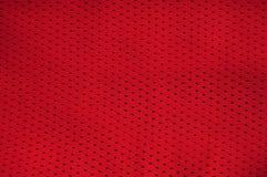 текстура красного цвета Джерси Стоковое Изображение
