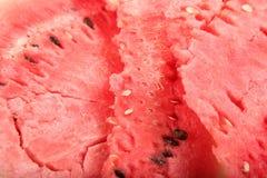 текстура красного цвета дыни Стоковые Изображения