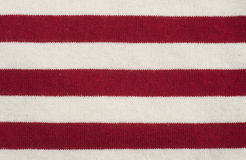 Текстура красного цвета и белых striped ткани Стоковое Изображение