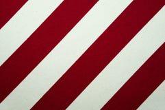 Текстура красного цвета и белых striped холста Стоковая Фотография RF